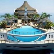 جزیره ای متحرک در دل یک قایق بادبانی زیبا