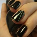 لاک مشکی با طراحی انگشت حلقه