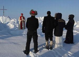 نخستین مراسم عروسی در قطب شمال