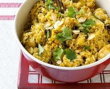 طرز تهیه برياني مرغ هندي