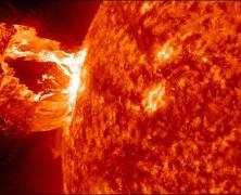 انفجار شگفت انگیز خورشید