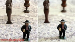 عکس سمت راست با دیافراگم باز ۱/۸ و عکس سمت چپ با دیافراگم بسته ۱۶