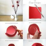 طرز ساخت گل کاغذی