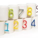لیوانهای دسته شماره ای
