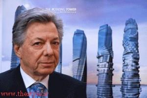 دیوید فیشر طراح برج چرخان در دبی