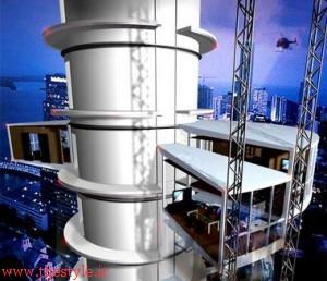 برج چرخان در دبی