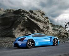 اتومبیلی که باطریهایش را با اثر اصطکاک جریان هوا  با بدنه خودرو شارژ میکند