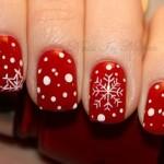طرح برف با زمینه قرمز