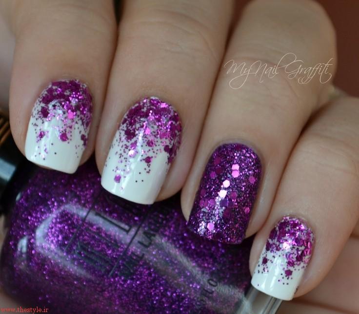 Ногти с фиолетовым дизайном фото